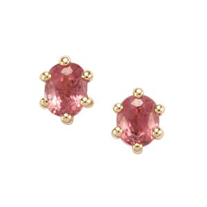 Padparadscha Sapphire Earrings in 10k Gold 0.66ct