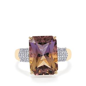 Anahi Ametrine Ring with Diamond in 14K Gold 6.54cts