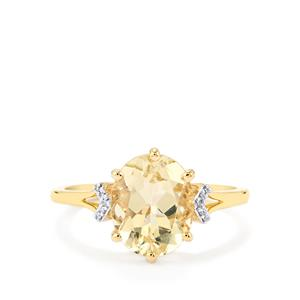 Serenite Ring with Diamond in 14K Gold 2.35cts