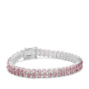 Pederneira Pink Tourmaline Bracelet in Sterling Silver 14.62cts