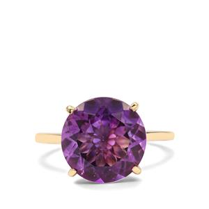 5.30ct Moroccan Amethyst 9K Gold Ring