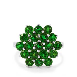 3.59ct Chrome Diopside Sterling Silver Ring