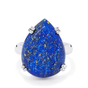 Lapis Lazuli Drusy Ring in Sterling Silver 14cts