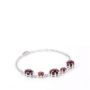 Madagascan Star Ruby Bracelet in Sterling Silver 16.87cts (F)