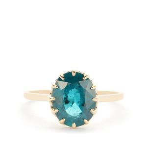 Odisha Kyanite Ring in 9K Gold 2.97cts
