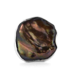 Iris Baroque Cultured Pearl Sterling Silver Ring (20mm x 17mm)