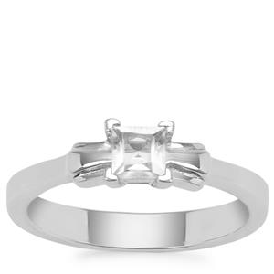 White Topaz Ring in Sterling Silver 0.50ct