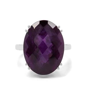 15.62ct Zambian Amethyst Sterling Silver Ring