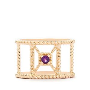 0.09ct Amethyst Rose Gold Vermeil Ring