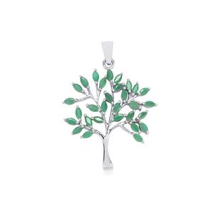 Carnaiba Brazilian Emerald Pendant in Sterling Silver 2.40cts
