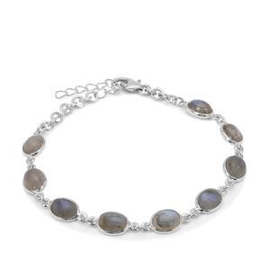 12ct Paul Island Labradorite Sterling Silver Aryonna Bracelet