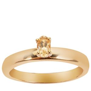 0.2ct Imperial Topaz Gold Vermeil Ring