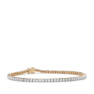 Diamond Bracelet in 10K Gold 3.40ct