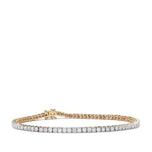 Diamond Bracelet in 9K Gold 3.40ct