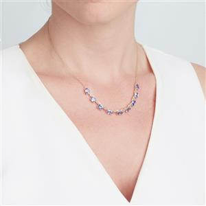 AA Tanzanite Necklace in 9K Gold 5.39cts