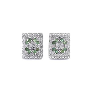 Orissa Alexandrite Cufflinks with White Topaz in Sterling Silver 0.72cts