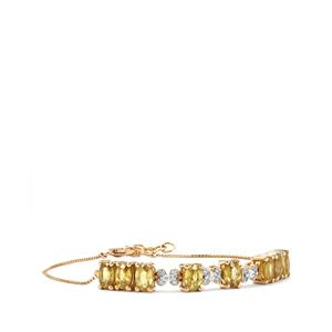 Ambilobe Sphene Bracelet with Diamond in 18K Gold 5.04cts