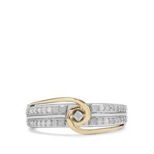 1/3ct Diamond Sterling Silver with 9k Gold Ring