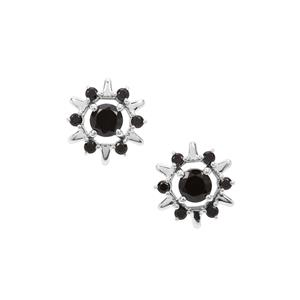 Black Spinel Earrings in Sterling Silver 1.77cts