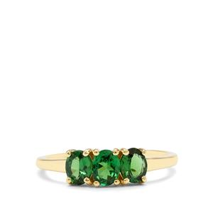 1.14ct Tsavorite Garnet 9K Gold Ring