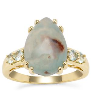 Aquaprase™ Ring with Aquaiba™ Beryl in 9K Gold 4.70cts