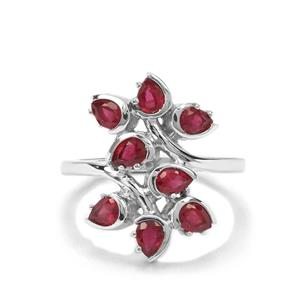 1.92ct Malagasy Ruby Sterling Silver Ring