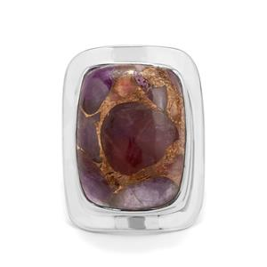 Copper Mojave Amethyst Ring in Sterling Silver 15cts