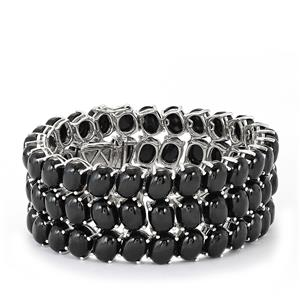 Black Spinel Bracelet in Sterling Silver 246cts