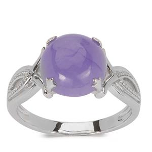 Mogok Lavender Jade Ring in Sterling Silver 4.49cts