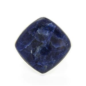 31.55ct American Sodalite Sterling Silver Aryonna Ring