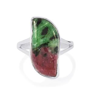 11.69ct Ruby-Zoisite Sterling Silver Aryonna Ring