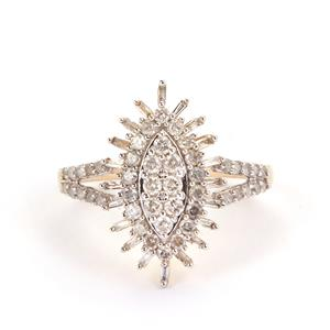 3/4ct Diamond 9K Gold Tomas Rae Ring