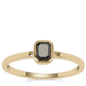 Black Diamond Ring in 9K Gold 0.45ct