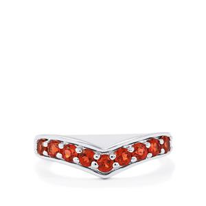 Nampula Garnet Ring in Sterling Silver 1cts