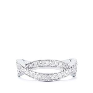 Diamond Ring  in Sterling Silver 0.37ct