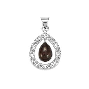 Andamooka Opal Pendant in Sterling Silver 3.50cts