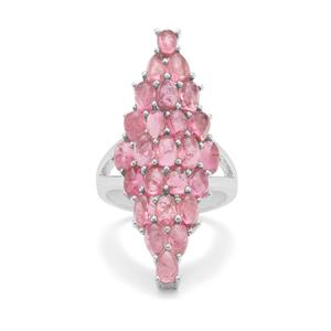 Pink Tourmaline Ring in Sterling Silver 6.65cts
