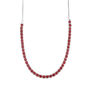 16.40ct Malagasy Ruby Sterling Silver Slider Necklace (F)