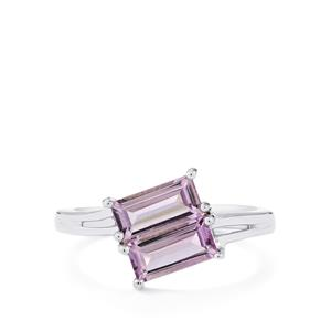 1.45ct Rose De France Amethyst Sterling Silver