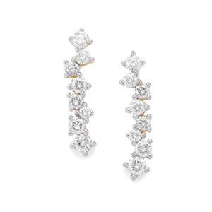 Diamond Earrings in 18K Gold 0.57ct