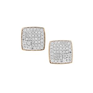 Diamond Earrings in 18K Gold 1ct