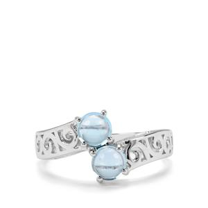 1.35ct Swiss Blue Topaz Sterling Silver Ring