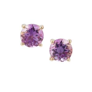 Moroccan Amethyst Earrings in 9K Gold 0.89ct