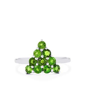 Chrome Diopside Ring in Sterling Silver 1.25cts