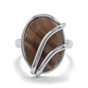 6.50ct Cappuccino Flint Sterling Silver Aryonna Ring
