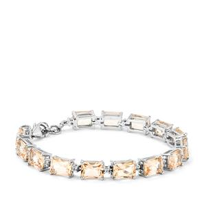 26.91ct Galileia & White Topaz Sterling Silver Bracelet