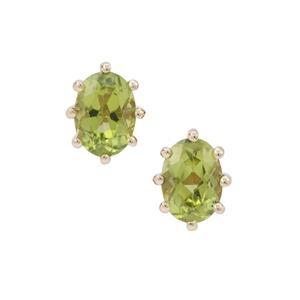 Arizona Peridot Earrings in 9K Gold 1.75cts