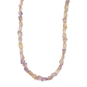 96ct Mato Grosso Ametrine Sterling Silver Tumbled  Necklace