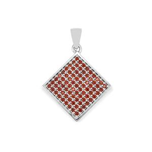 1.40ct Anthill Garnet Sterling Silver Pendant