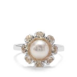 South Sea Cultured Pearl & Serenite Sterling Silver Ring